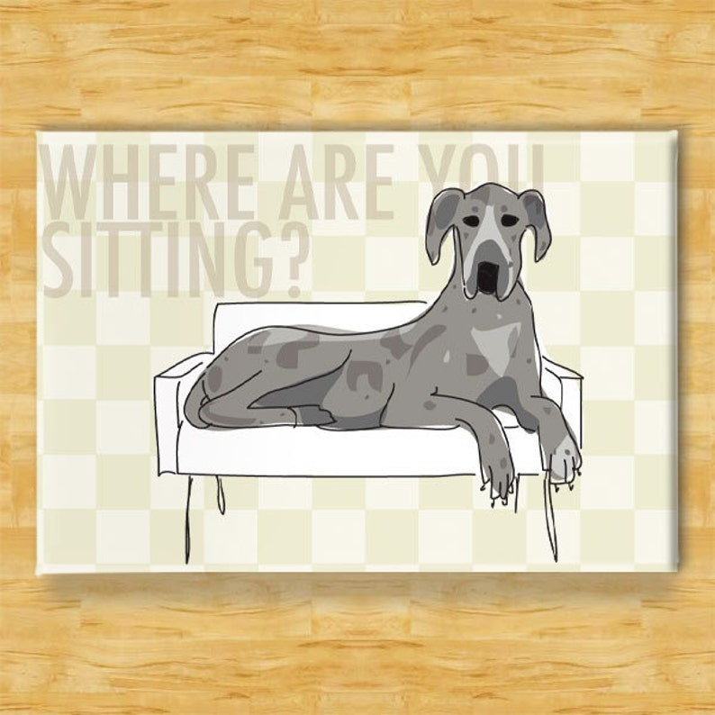 Great Dane Licker License FRIDGE MAGNET Dog No 1