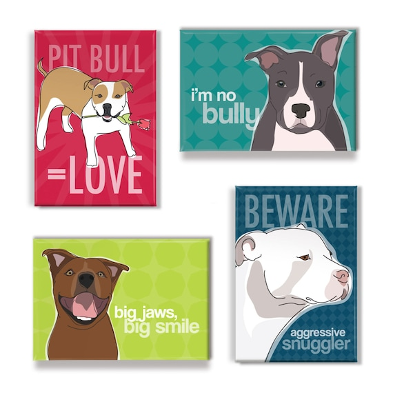 PITBULL DOG RULES Novelty//Fun Fridge Magnet Ideal Present//Gift IT/'S MINE