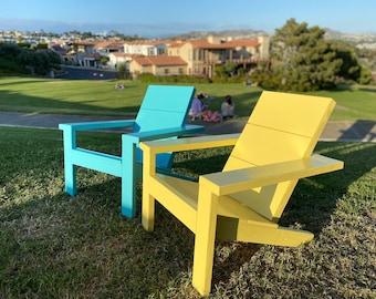 Modern Contemporary Outdoor Adirondack Chair