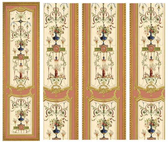 Victorian Wall Panels Wallpaper 1 12th Or 1 24th Scale 16