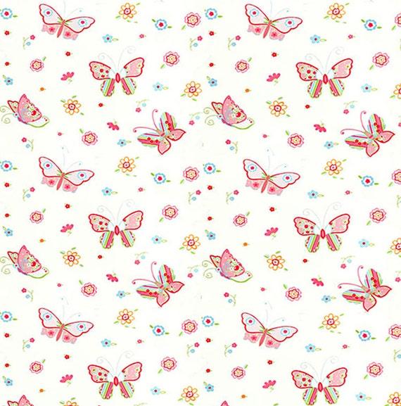 Dolls House Miniature Butterflys On Pale Peach Wallpaper