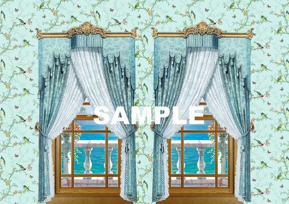 Casa De Muñecas En Miniatura Colgante Flor Azul Wallpaper