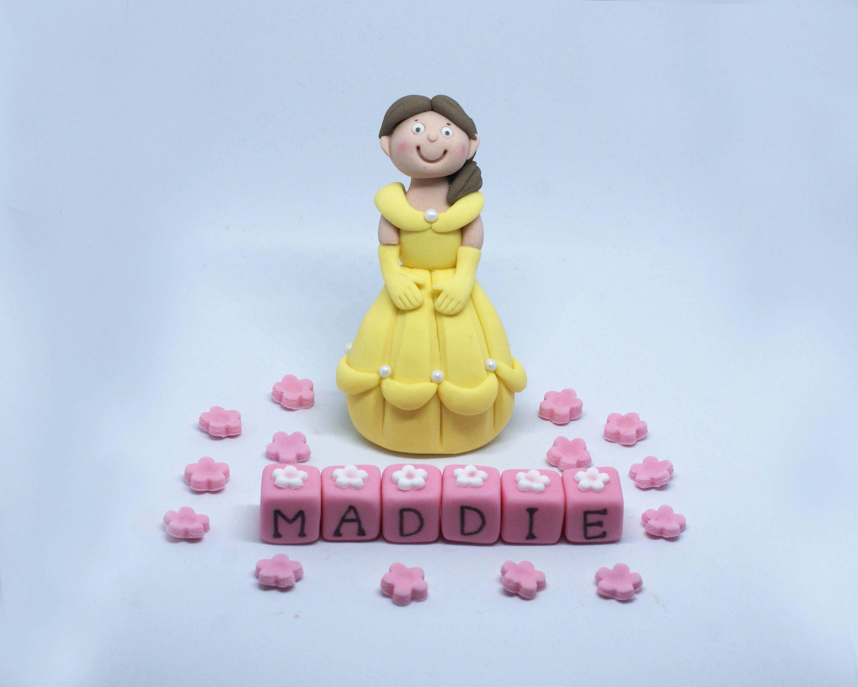 Personalised Handmade Edible Sugar Princess Birthday Cake