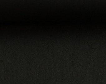 Cotton fabric - Woven fabric - Uni schwarz