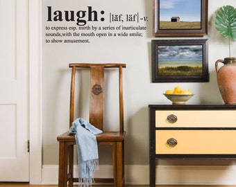 Wall Decals Wall Words Art Wall Stickers Vinyl Lettering - Laugh