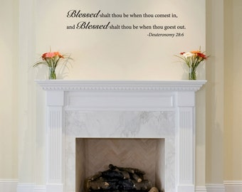 Wall Decals Wall Quote Wall Words Wall Sticker - Blessed  Deuteronomy