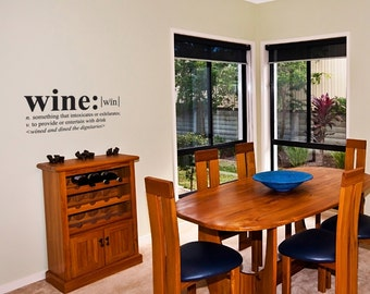 Wall Decals Wall Words Art Wall Stickers Vinyl Lettering - Wine Definition