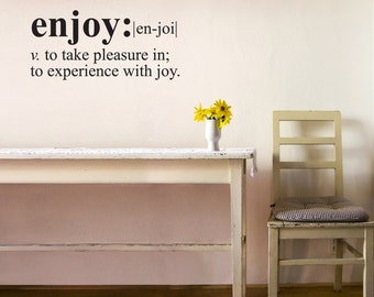 Wall Decals Wall Words Art Wall Stickers Vinyl Lettering - Enjoy Definition