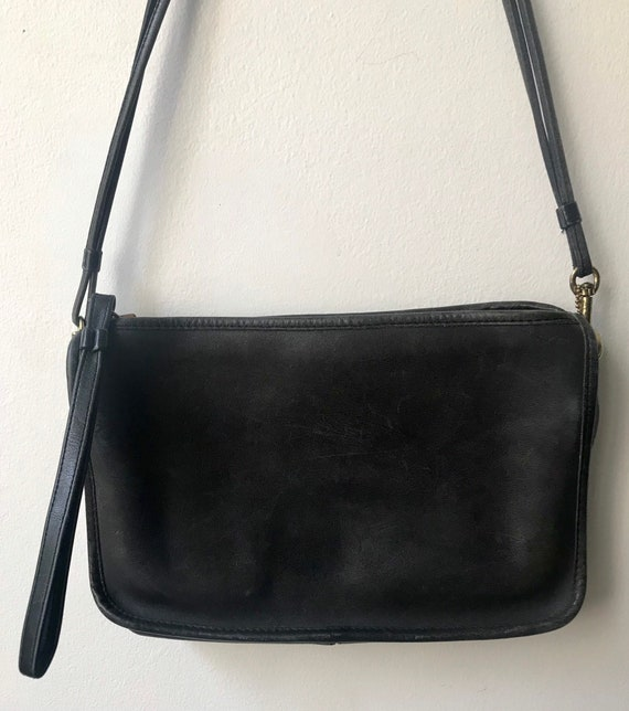 Vintage Coach Bonnie Cashin black leather purse