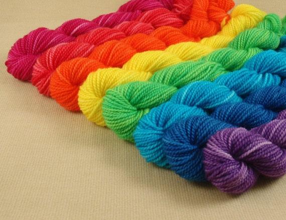 SET 1 Sock Yarn Mini set of 8