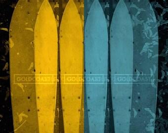 Pop Art Skateboard Photo Manipulation Glossy Print