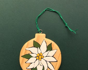 Edelweiss ornament decoration hand painted