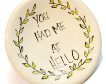 You had me at Hello Tiny Dish for jewelery tea bag spoon rest