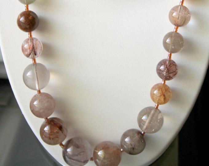 Rutile Quartz Bead Necklace