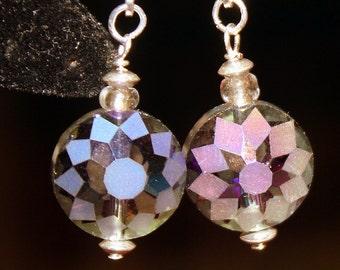 Cut Crystal Faceted Earrings