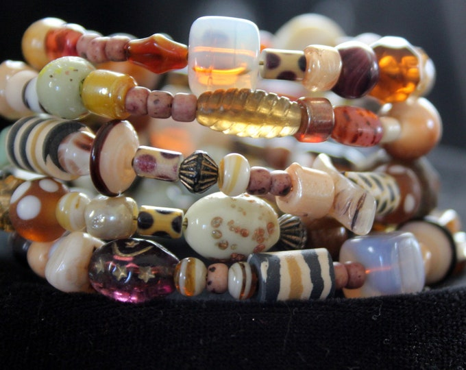 Colors of Africa Memory Wire Stackable Wrist Cuff Bracelet