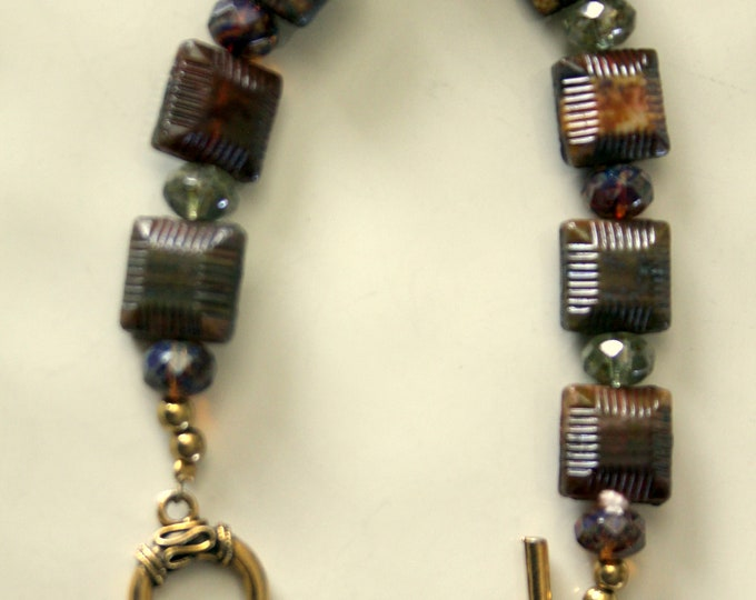 Boho Chic Raku Ceramic Bead Bracelet