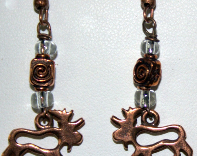 Montana Moose Earrings