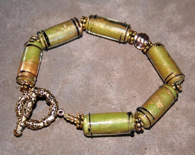Spring Green Asian Bracelet