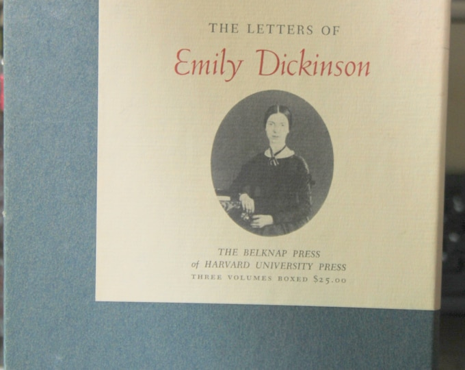 The Letters of Emily Dickinson in Three Volumes, Bound Set 1958 by Harvard Press Thomas H. Johnson, Editor