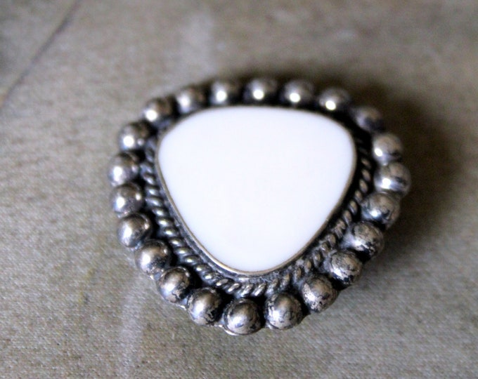 Vintage Mother of Pearl Pin Made in Mexico