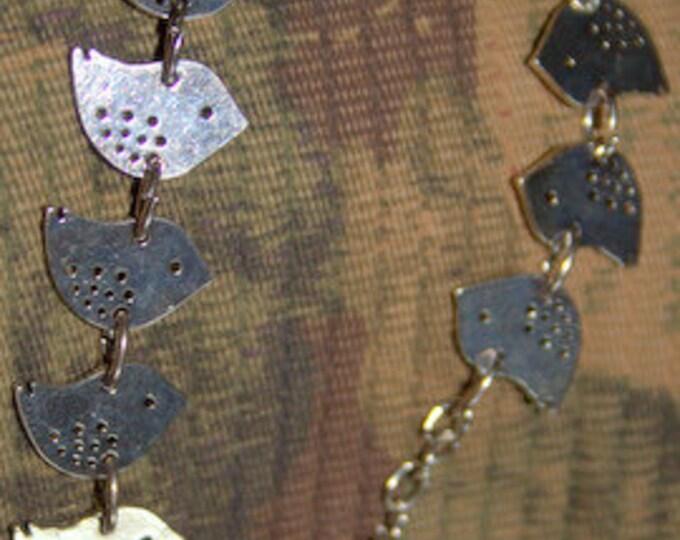 Birdie Flock Silver Bracelet also in Antique Brass and Bright Gold