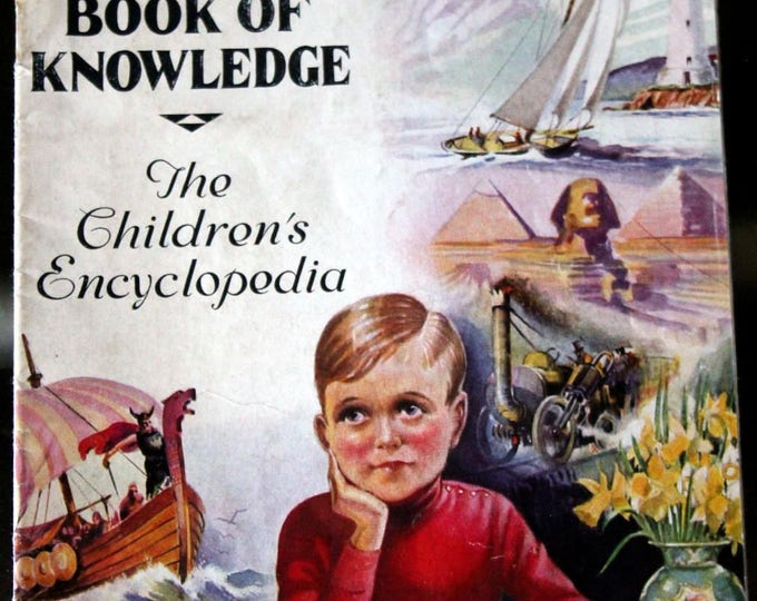 Vintage 1930's Book of Knowledge Sales Brochure for Children's Encyclopedia