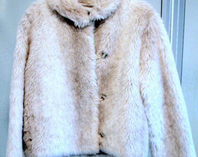 Ladies Faux Rabbit Fur Jacket Vintage 1960's by Aspen Co.