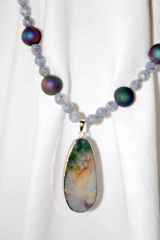Translucent Ocean Jasper Pendant