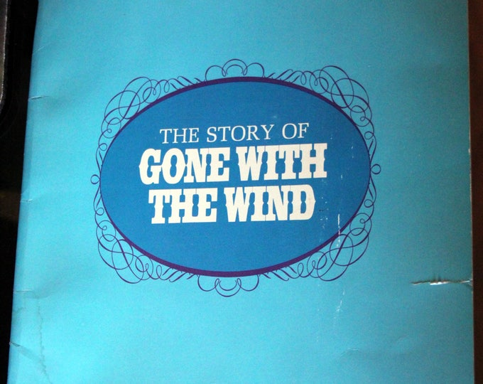 The Story of Gone With the Wind 1967 by Bob Thomas Movie Program Style Paperback Booklet
