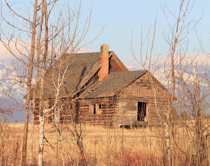 Mission Mountain Homestead Montana 11 x 14 Inch Thin Wrap Photographic Print