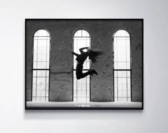 Black and White Print, Black & White Wall Decor, Living Room Decor, Contemporary Photography Gift, Modern Art Poster, Dorm Decor, Boys Room