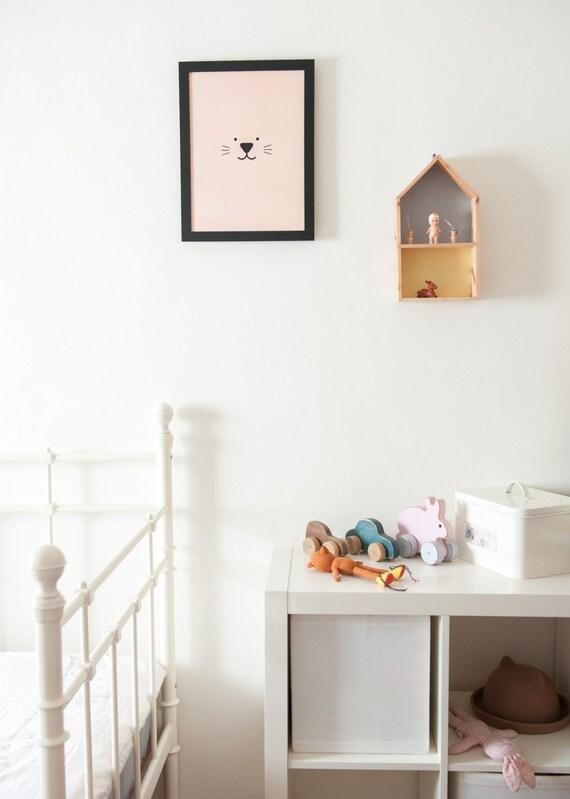 Kinderzimmer Dekor Hase Kinder Poster / minimalistisch | Etsy