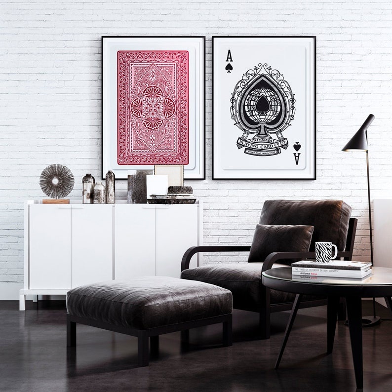 Set Of 2 Big Posters Playing Cards Posters 20x30 50x70cm Etsy