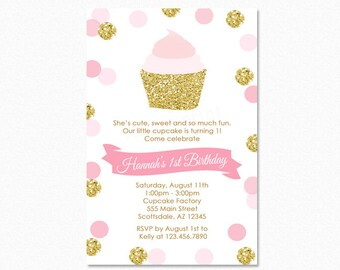 invitation cupcake etsy