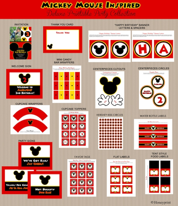 Mickey Mouse Bithday Party Printables Printable Mickey Mouse