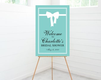 Breakfast at Tiffany's Bridal Shower Welcome Sign, Bridal Shower Decorations, Bridal Shower Brunch Sign, Foam Board Sign
