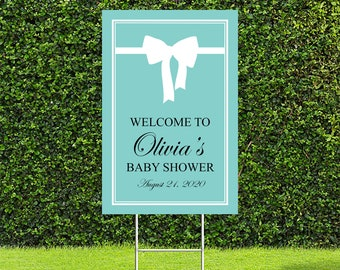 Breakfast at Tiffany's Baby Shower Yard Sign, Drive By Baby Shower Sign, Baby Shower Welcome Sign, Yard Signs