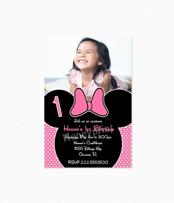 Minnie mouse birthday party invitation pink minnie mouse etsy image 0 filmwisefo