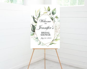 Eucalyptus Greenery Bridal Shower Welcome Sign, Bridal Shower Decorations, Foam Board Sign