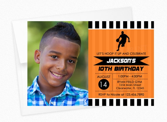 Basketball Birthday Party Invitation Printable And Printed