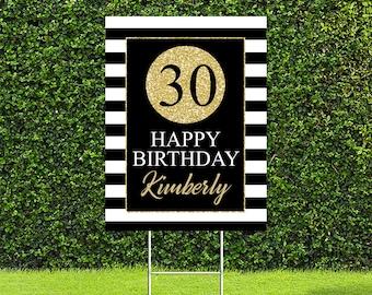 "30th Birthday Party Yard Sign, Quarantine Birthday Yard Sign, 18""x24"" or 24""x36"" Printed Sign"