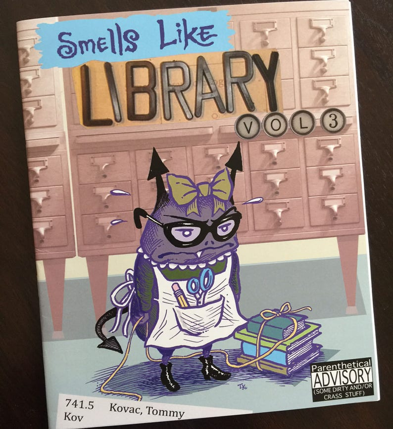 SMELLS LIKE LIBRARY collected comics vol.3 image 0