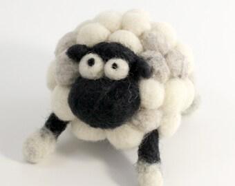 Needle felting sheep kit