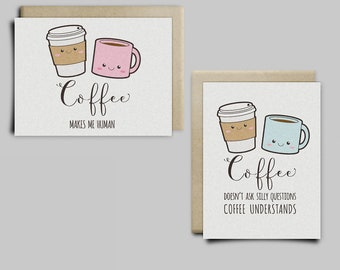 Cute Coffee Greeting Cards