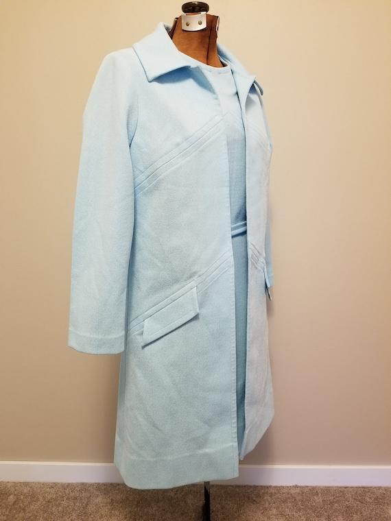 Vintage 60s 70s Nardis of Dallas Aqua Shift Dress