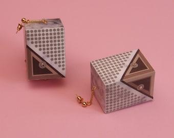 "Mod Earrings //Huge Earrings // 60s Inspired Earrings // Geometric Earrings //  Rudi Gernreich Inspired // The ""Rudi"""