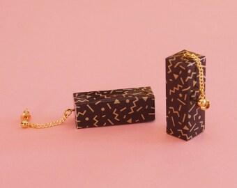 """Geometric Earrings // Paper Earrings // Origami Earrings // Memphis Modern Earrings // Art Deco Earrings// The """"Ettore 1"""""""