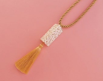 "Geometric Necklace // Tassel necklace // Statement Necklace // Memphis Modern // Geometric Jewelry // The ""Ettore"""