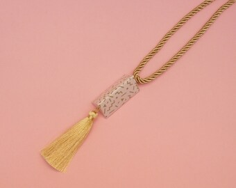 """Geometric Necklace // Tassel necklace // Memphis Inspired Necklace // Memphis Modern // Statement Jewelry // The """"Ettore"""""""